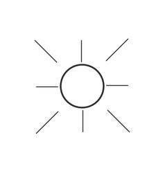 Summer icon logo template design vector