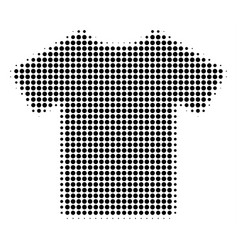 t-shirt halftone icon vector image