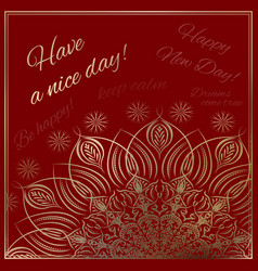Template for the greeting cards vector