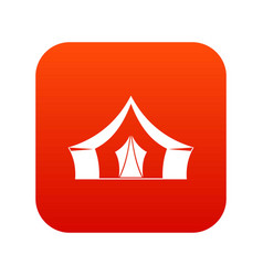 Tent camping symbol icon digital red vector