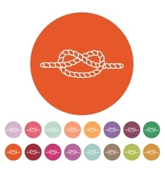 The knot icon Node and tie rope symbol Flat vector image