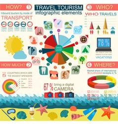 Travel Vacations Beach resort infographics vector