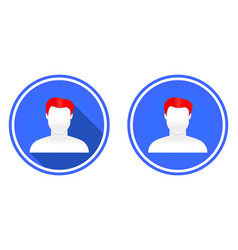 user round flat icon vector image