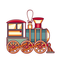 Vintage train icon vector
