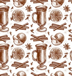 Warm wine seamless background vector