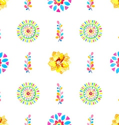 Watercolor Retro pattern of geometric shapes vector