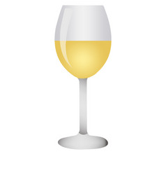 white wine glass vector image