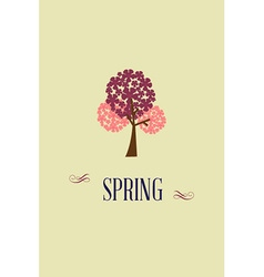 With spring tree and vector