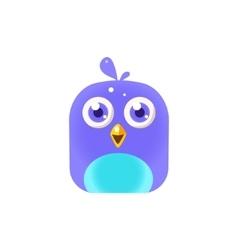 Blue Chick Square Icon vector image