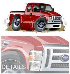cartoon muscle pickup vector image vector image