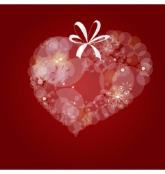 decorative heart vector image vector image