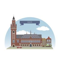 Hague vector image vector image