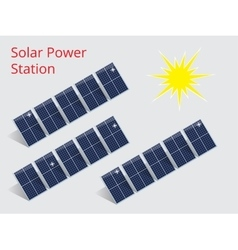 Isometric of a solar power station vector image vector image