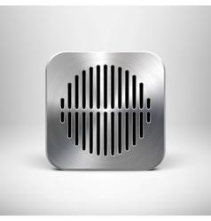 Metallic Speaker Icon vector image vector image