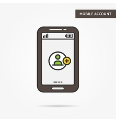 Mobile account vector image
