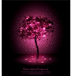 background with a luminous tree vector image