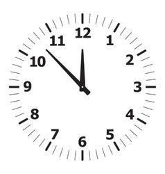black simple clock vector image
