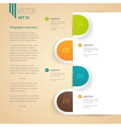 Business infographic tab vector image vector image