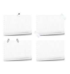 Note book pages vector image