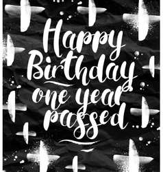 Angry birthday greeting card vector image vector image