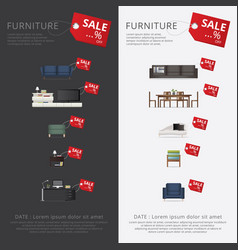 banner furniture sale advertisement flayers vector image vector image