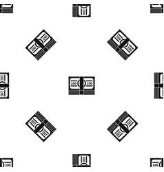 bundle of money pattern seamless black vector image vector image