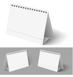desk calendar on white for design vector image