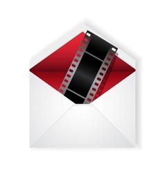 film strip in envelope vector image vector image