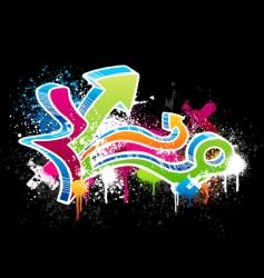 graffiti sketch vector image vector image