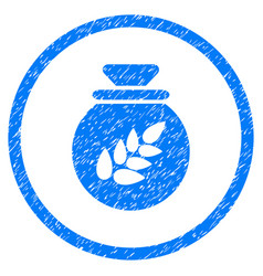 grain harvest sack rounded grainy icon vector image