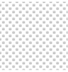 roll seamless pattern with icons and vector image vector image