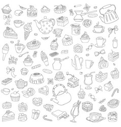 set of different sweets without color vector image vector image