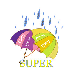 super sale and rain discount vector image