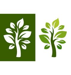 tree logo 23 vector image vector image