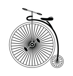 Vintage bike type 2 in black and white vector image