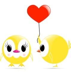 chick heart chick vector image vector image