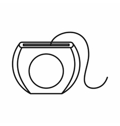 Dental floss icon outline style vector image vector image