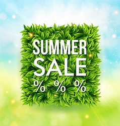 Summer sale advertisement poster Blurred vector image vector image