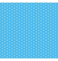 White isometric grid on cyan background seamless vector image vector image