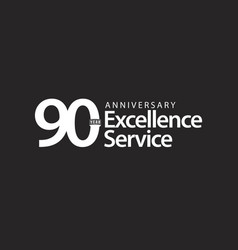 90 year anniversary excellence service template vector