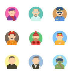 Activities icons set flat style vector