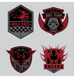 auto and moto racing emblem set and design vector image