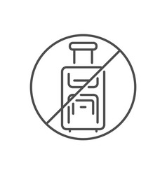 Avoid travel related thin line icon vector