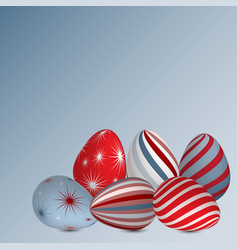 Background colourful easter eggs vector