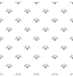 Battle axes with two tips pattern cartoon style vector image