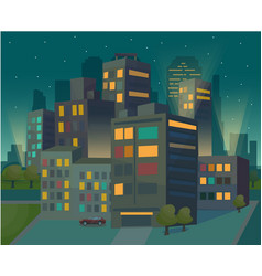 beautiful view of the night modern city vector image