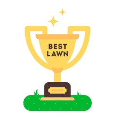 Best Lawn Cup vector