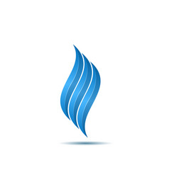blue fire symbol vector image