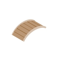Bridge made of wood icon isometric 3d style vector