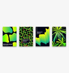 brochure design with trendy neon gradients vector image